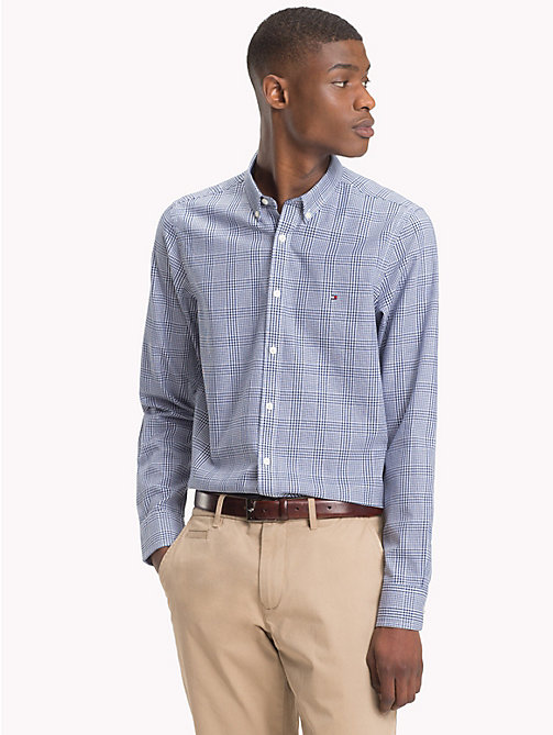 TOMMY HILFIGER Prince of Wales Check Shirt - BLUE DEPTHS / BRIGHT WHITE - TOMMY HILFIGER What to wear - detail image 1