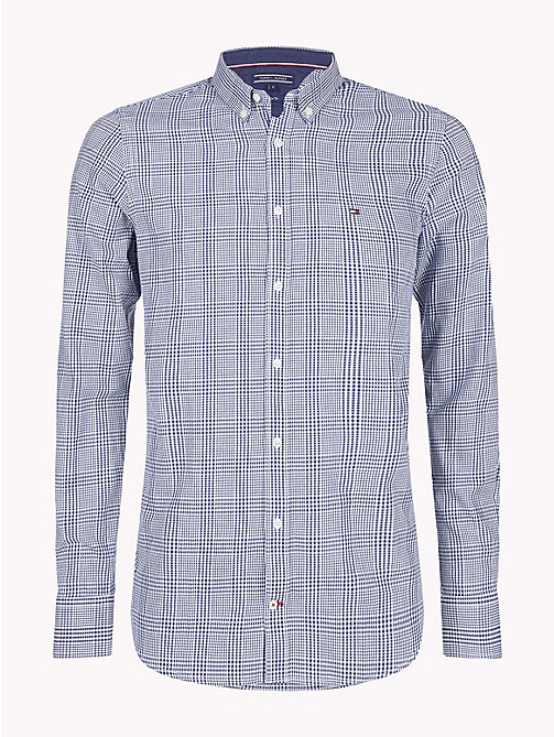 TOMMY HILFIGER Prince of Wales Check Shirt - BLUE DEPTHS / BRIGHT WHITE - TOMMY HILFIGER Trending - main image