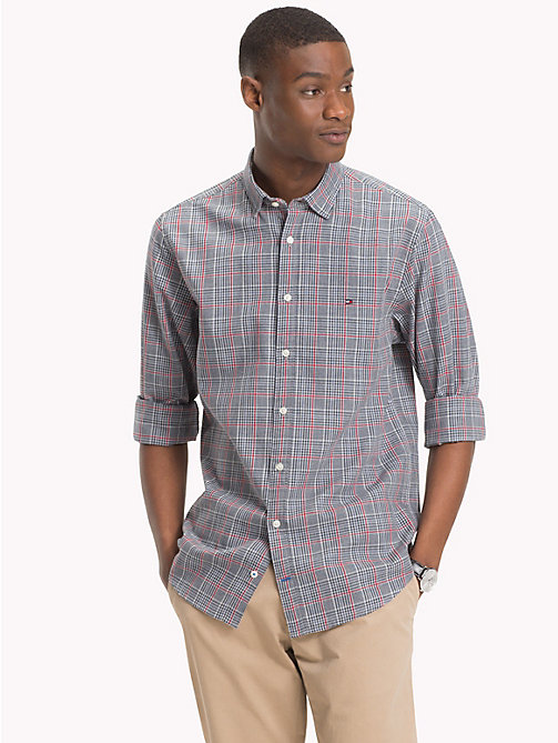 TOMMY HILFIGER Prince of Wales Check Shirt - CLOUD HTR / HAUTE RED - TOMMY HILFIGER NEW IN - detail image 1
