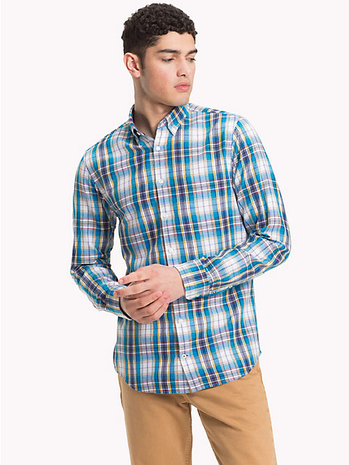TOMMY HILFIGER Multi-Colour Check Shirt - VIVID BLUE / RHUBARB / MULTI - TOMMY HILFIGER NEW IN - detail image 1