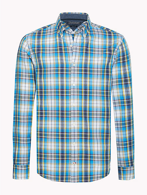 TOMMY HILFIGER Multi-Colour Check Shirt - VIVID BLUE / RHUBARB / MULTI - TOMMY HILFIGER NEW IN - main image