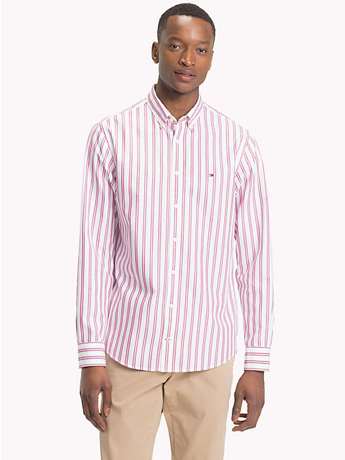 TOMMY HILFIGER Fresh Regimental Stripe Shirt - HAUTE RED / MEDIEVAL BLUE / BW - TOMMY HILFIGER Casual Shirts - detail image 1
