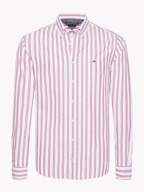 TOMMY HILFIGER Fresh Regimental Stripe Shirt - HAUTE RED / MEDIEVAL BLUE / BW - TOMMY HILFIGER Casual Shirts - main image