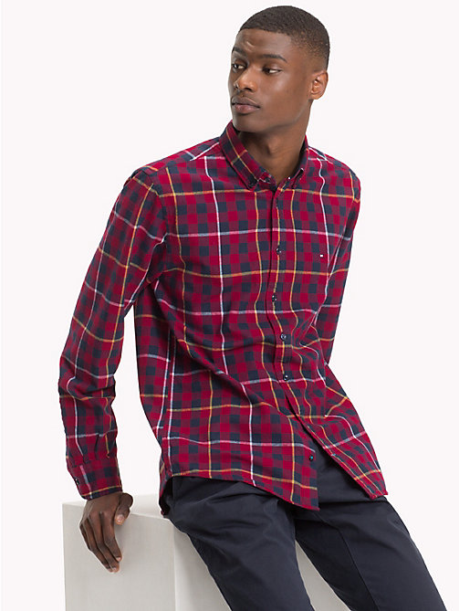 TOMMY HILFIGER Twill Gingham Shirt - RHUBARB / BLACK IRIS - TOMMY HILFIGER NEW IN - detail image 1