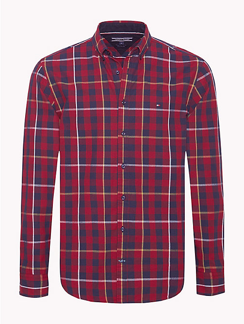TOMMY HILFIGER Twill Gingham Shirt - RHUBARB / BLACK IRIS - TOMMY HILFIGER NEW IN - main image