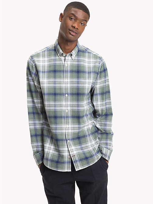 TOMMY HILFIGER Plaid Check Herringbone Shirt - ROSIN / MEDIEVAL BLUE - TOMMY HILFIGER Casual Shirts - detail image 1