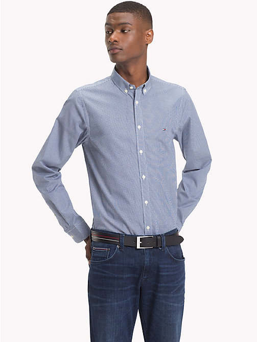 TOMMY HILFIGER Grid Check Slim Fit Shirt - BLUE DEPTHS / WHISPER WHITE - TOMMY HILFIGER NEW IN - detail image 1