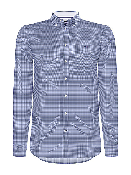 TOMMY HILFIGER Grid Check Slim Fit Shirt - BLUE DEPTHS / WHISPER WHITE - TOMMY HILFIGER NEW IN - main image
