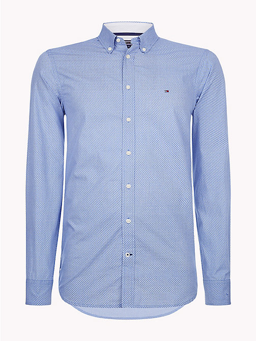 TOMMY HILFIGER Grid Check Slim Fit Shirt - BLUE LOLITE / BRIGHT WHITE - TOMMY HILFIGER Casual Shirts - main image
