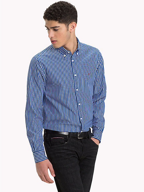TOMMY HILFIGER Pure Cotton Shirt - MAZARINE BLUE / BRIGHT WHITE - TOMMY HILFIGER NEW IN - detail image 1