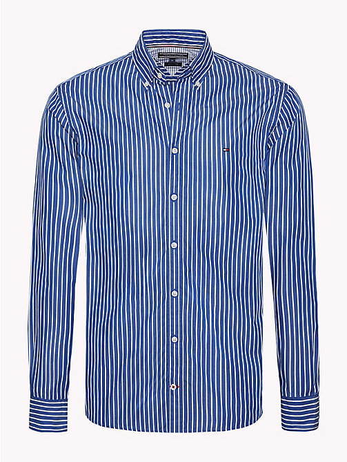 TOMMY HILFIGER Pure Cotton Shirt - MAZARINE BLUE / BRIGHT WHITE - TOMMY HILFIGER NEW IN - main image