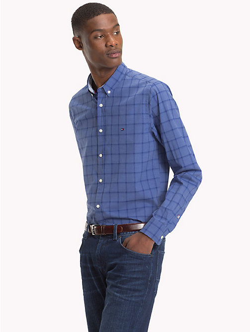 TOMMY HILFIGER Windowpane Check Slim Fit Shirt - COLONY BLUE / BLUE DEPTHS - TOMMY HILFIGER Casual Shirts - detail image 1