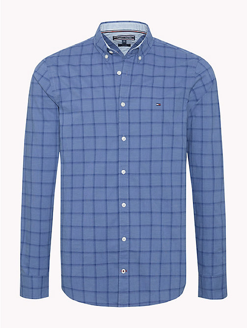 TOMMY HILFIGER Windowpane Check Slim Fit Shirt - COLONY BLUE / BLUE DEPTHS - TOMMY HILFIGER Casual Shirts - main image