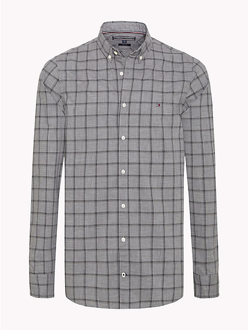 TOMMY HILFIGER Windowpane Check Slim Fit Shirt - CHARCOAL HTR / CLOUD HTR - TOMMY HILFIGER Casual Shirts - main image