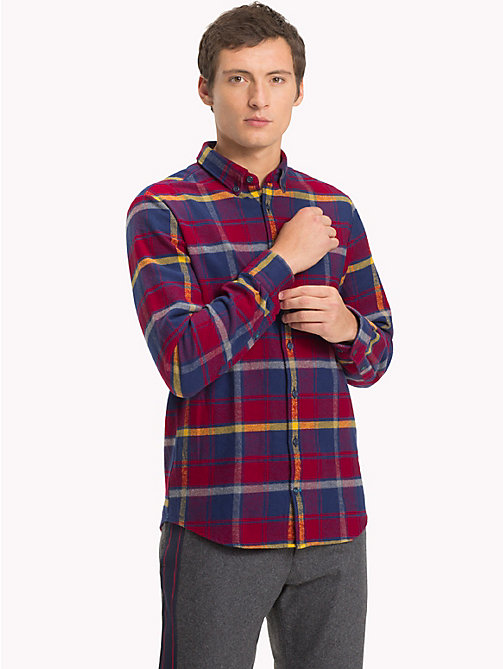 TOMMY HILFIGER Multi-Colour Check Flannel Shirt - RHUBARB / CEYLON YELLOW / MULTI - TOMMY HILFIGER NEW IN - detail image 1