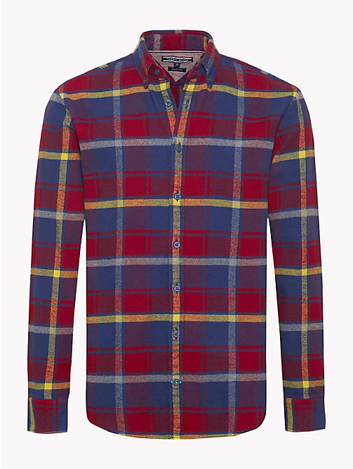 TOMMY HILFIGER Multi-Colour Check Flannel Shirt - RHUBARB / CEYLON YELLOW / MULTI - TOMMY HILFIGER NEW IN - main image