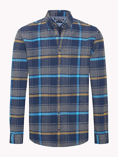 TOMMY HILFIGER Multi-Colour Check Flannel Shirt - BLUE DEPTHS / VIVID BLUE / MULTI - TOMMY HILFIGER NEW IN - main image