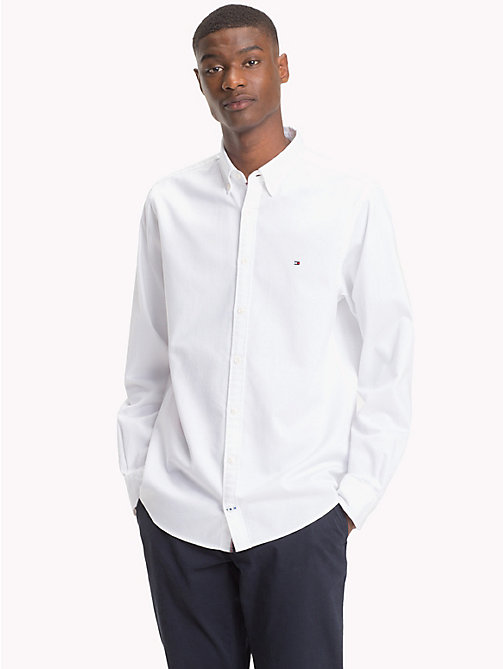 TOMMY HILFIGER Two-Tone Dobby Shirt - BRIGHT WHITE - TOMMY HILFIGER Casual Shirts - detail image 1