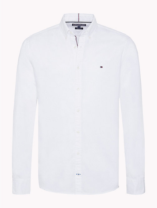 TOMMY HILFIGER Two-Tone Dobby Shirt - BRIGHT WHITE - TOMMY HILFIGER Casual Shirts - main image