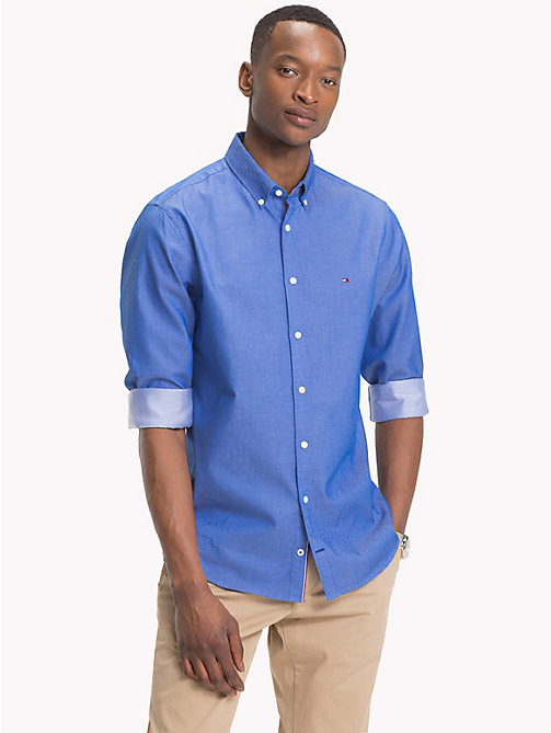 TOMMY HILFIGER Two-Tone Dobby Shirt - BLUE LOLITE - TOMMY HILFIGER Casual Shirts - detail image 1