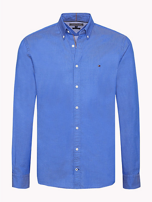 TOMMY HILFIGER Two-Tone Dobby Shirt - BLUE LOLITE - TOMMY HILFIGER Casual Shirts - main image
