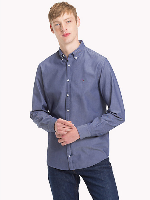TOMMY HILFIGER Two-Tone Dobby Shirt - MEDIEVAL BLUE - TOMMY HILFIGER Casual Shirts - detail image 1