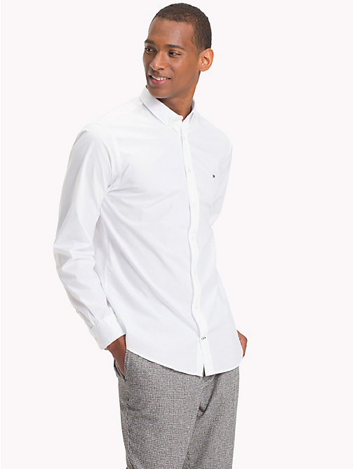 TOMMY HILFIGER Plain Pure Cotton Shirt - BRIGHT WHITE - TOMMY HILFIGER NEW IN - detail image 1