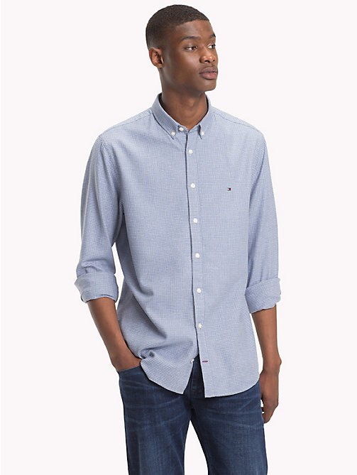 TOMMY HILFIGER Gingham Check Shirt - COLONY BLUE / CLOUD HTR - TOMMY HILFIGER Casual Shirts - detail image 1