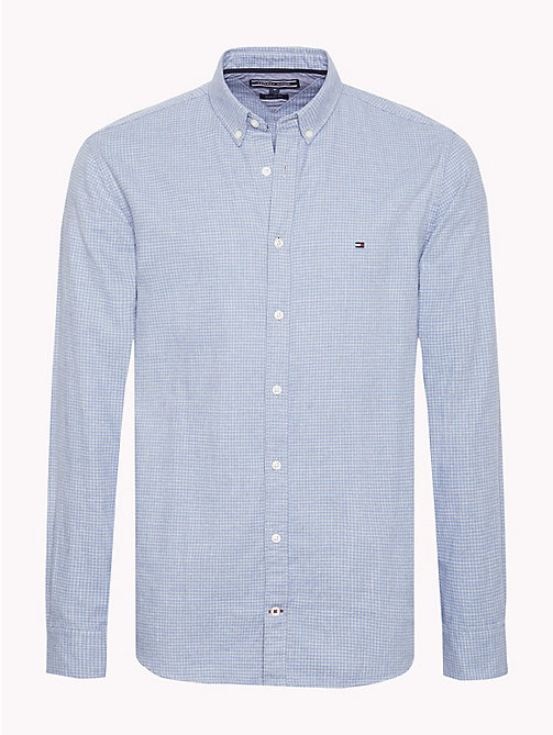 TOMMY HILFIGER Gingham Check Shirt - COLONY BLUE / CLOUD HTR - TOMMY HILFIGER Casual Shirts - main image