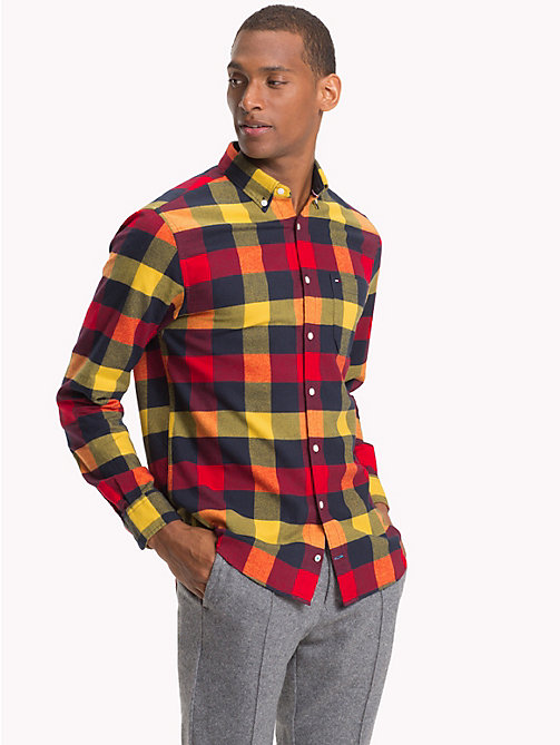 TOMMY HILFIGER Multi-Colour Buffalo Check Shirt - GOJI BERRY / CEYLON YELLOW - TOMMY HILFIGER NEW IN - detail image 1