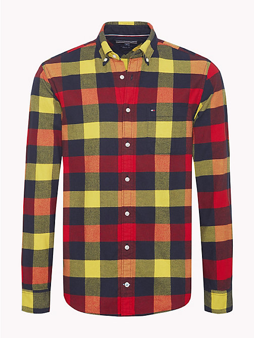 TOMMY HILFIGER Multi-Colour Buffalo Check Shirt - GOJI BERRY / CEYLON YELLOW - TOMMY HILFIGER NEW IN - main image