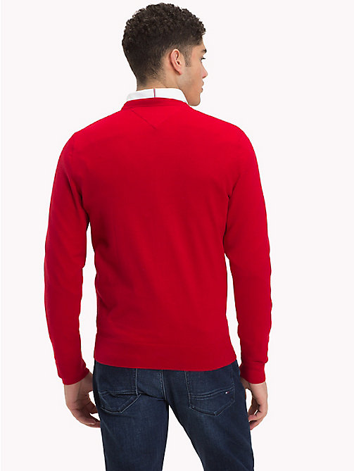 TOMMY HILFIGER Classic Crew Neck Jumper - HAUTE RED - TOMMY HILFIGER Jumpers - detail image 1