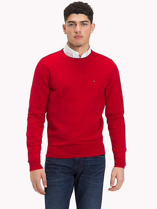 TOMMY HILFIGER Classic Crew Neck Jumper - HAUTE RED - TOMMY HILFIGER Jumpers - main image