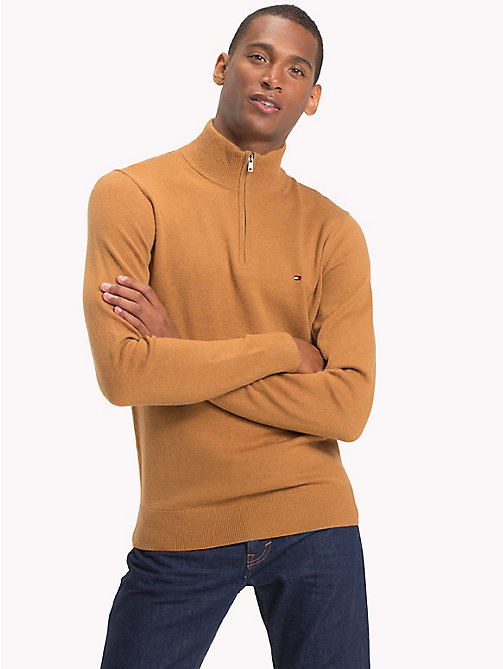 TOMMY HILFIGER Lambswool Half-Zip Pullover - DIJON HEATHER -  Winter Warmers - main image