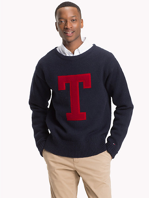 TOMMY HILFIGER Monogram Crew Neck Jumper - 413-SKY CAPTAIN - TOMMY HILFIGER NEW IN - main image