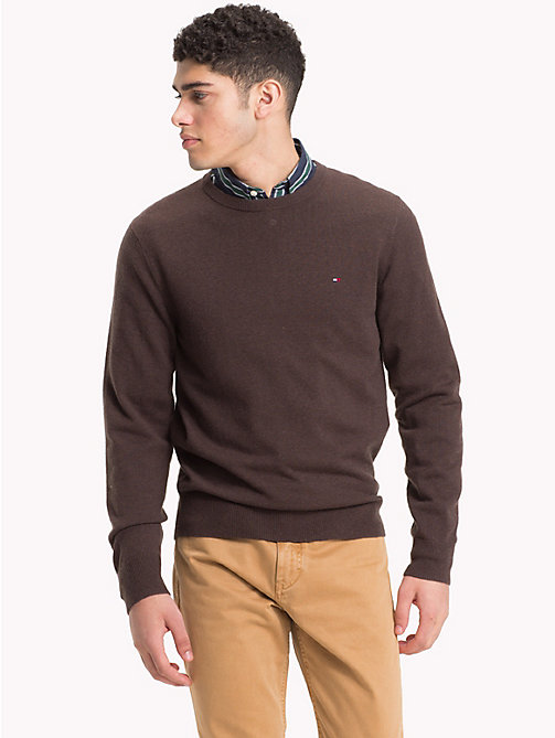 TOMMY HILFIGER Lambswool Crew Neck Jumper - DELICIOSO HEATHER - TOMMY HILFIGER NEW IN - main image