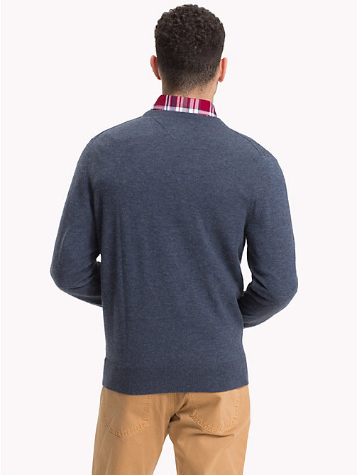 TOMMY HILFIGER Lambswool Crew Neck Jumper - OMBRE BLUE HEATHER - TOMMY HILFIGER NEW IN - detail image 1