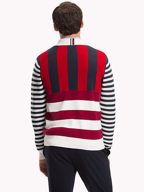 TOMMY HILFIGER Stripe Long Sleeve Rugby Shirt - SNOW WHITE - TOMMY HILFIGER Rugby shirts - detail image 1