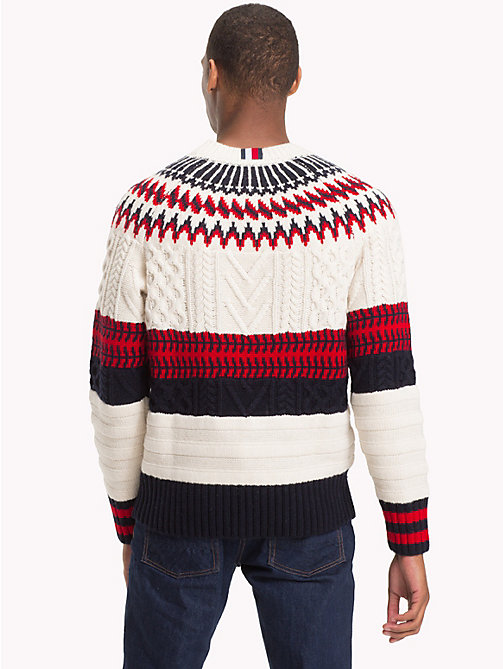TOMMY HILFIGER Fair Isle Chunky Knit Jumper - SNOW WHITE - TOMMY HILFIGER NEW IN - detail image 1