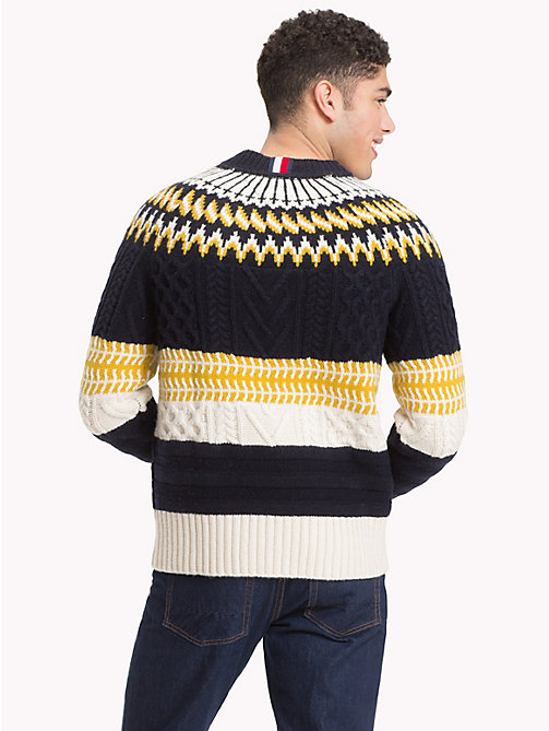 TOMMY HILFIGER Fair Isle Chunky Knit Jumper - 413-SKY CAPTAIN - TOMMY HILFIGER NEW IN - detail image 1