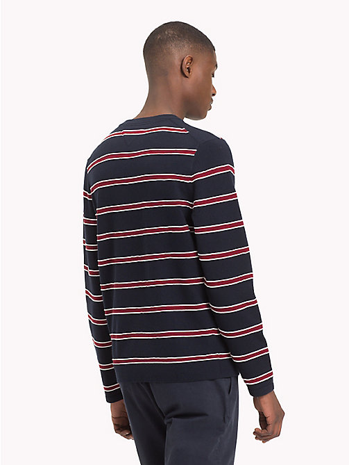 TOMMY HILFIGER Stripe Cotton Silk Jumper - 413-SKY CAPTAIN - TOMMY HILFIGER NEW IN - detail image 1