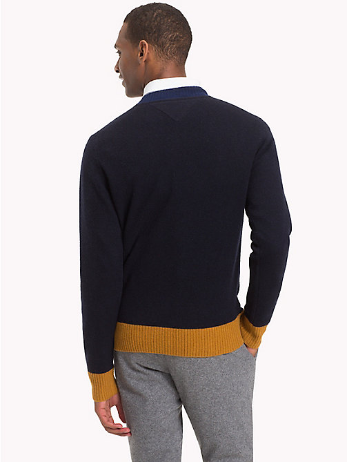 TOMMY HILFIGER Colour Tipped Wool Jumper - SKY CAPTAIN HEATHER - TOMMY HILFIGER Winter Warmers - detail image 1