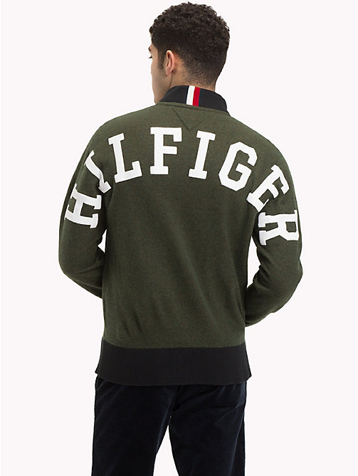TOMMY HILFIGER Logo Back Baseball Top - ROSIN HEATHER - TOMMY HILFIGER Cardigans - detail image 1