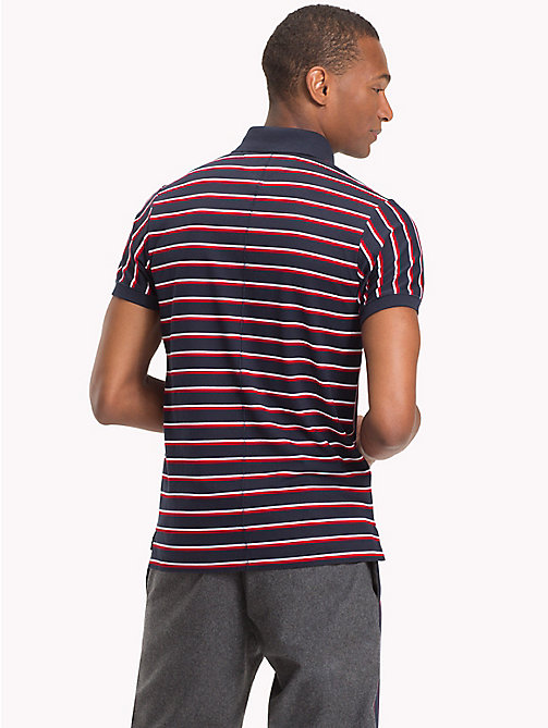 TOMMY HILFIGER Stripe Slim Fit Polo Shirt - SKY CAPTAIN / MULTI - TOMMY HILFIGER Polo Shirts - detail image 1