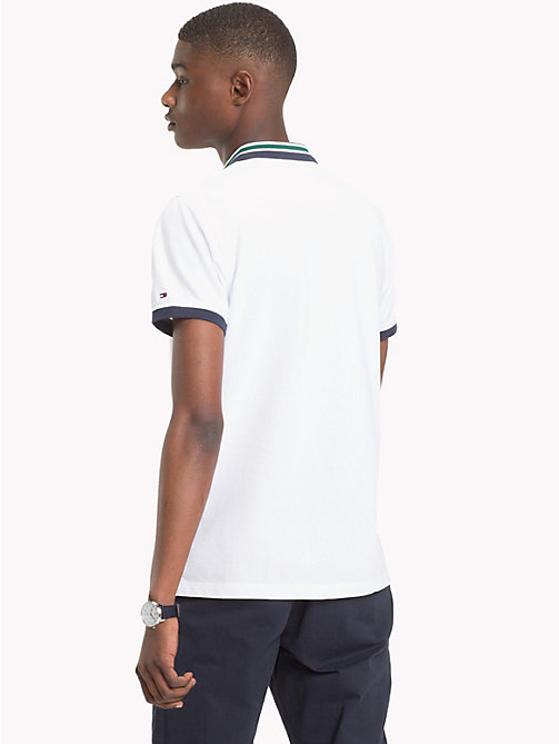 TOMMY HILFIGER Statement Collar Slim Fit Polo Shirt - BRIGHT WHITE - TOMMY HILFIGER Clothing - detail image 1