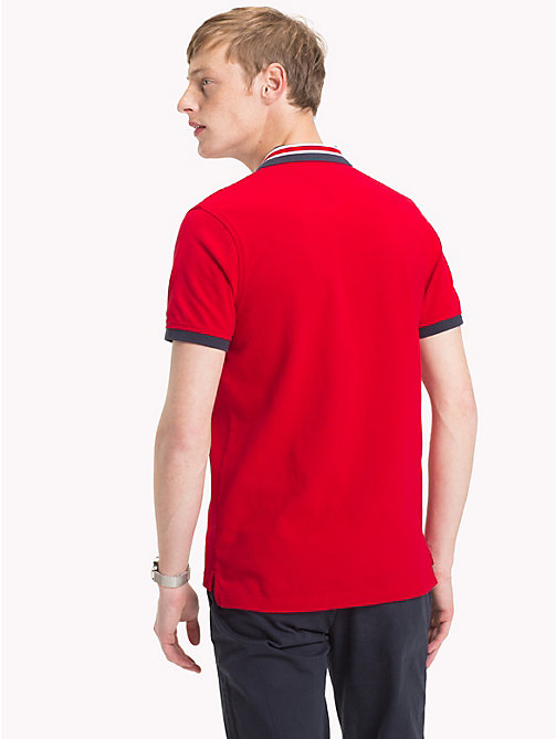 TOMMY HILFIGER Slim fit poloshirt met statement-kraag - HAUTE RED - TOMMY HILFIGER Polo's - detail image 1