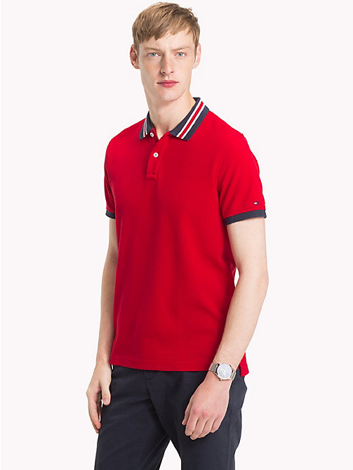 TOMMY HILFIGER Slim fit poloshirt met statement-kraag - HAUTE RED - TOMMY HILFIGER Polo's - main image