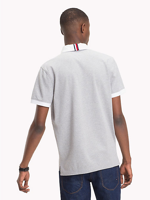 TOMMY HILFIGER Rugby Cotton Polo Shirt - QUICKSILVER - TOMMY HILFIGER Polo Shirts - detail image 1
