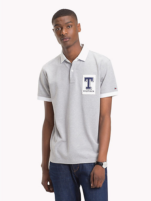 TOMMY HILFIGER Rugby Cotton Polo Shirt - QUICKSILVER - TOMMY HILFIGER Polo Shirts - main image