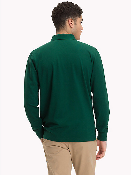 TOMMY HILFIGER Long Sleeve Polo Shirt - RAIN FOREST - TOMMY HILFIGER Polo Shirts - detail image 1
